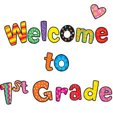 Graphic image: Welcome to 1st Grade