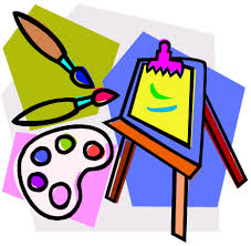 Clipart image of art supplies