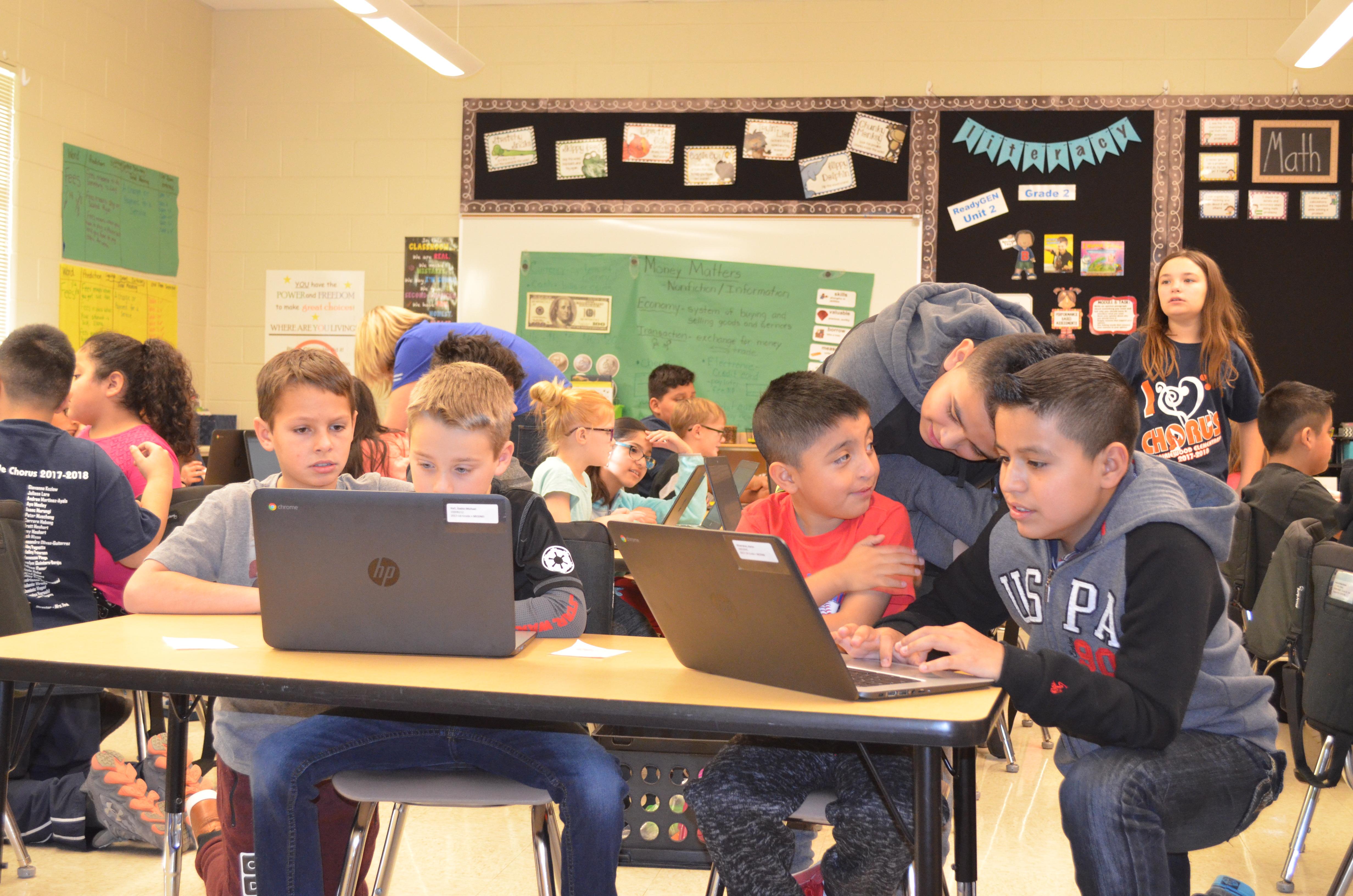 Hour of Code at Prairiewood Elementary