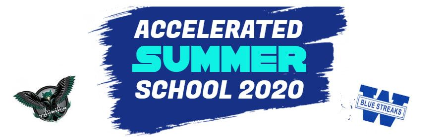 Banner image announcing Accelerated Summer School courses for incoming freshmen