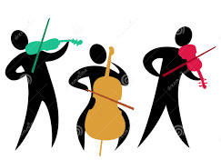 Clipart image of orchestra musicians