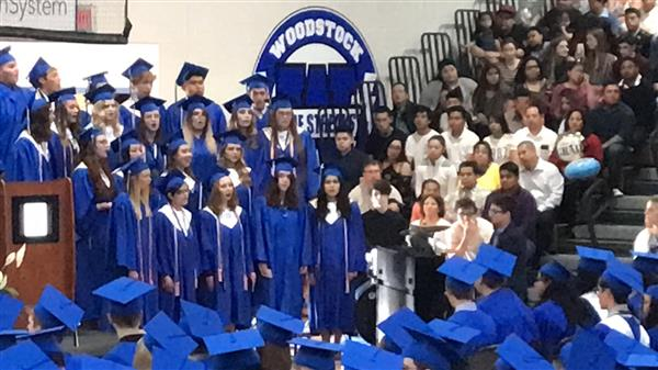 WHS Choir singing at Graduation 2019