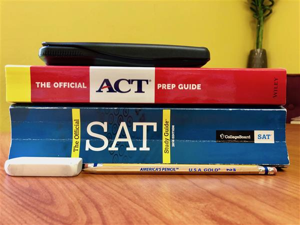 Photo of ACT & SAT study guide books
