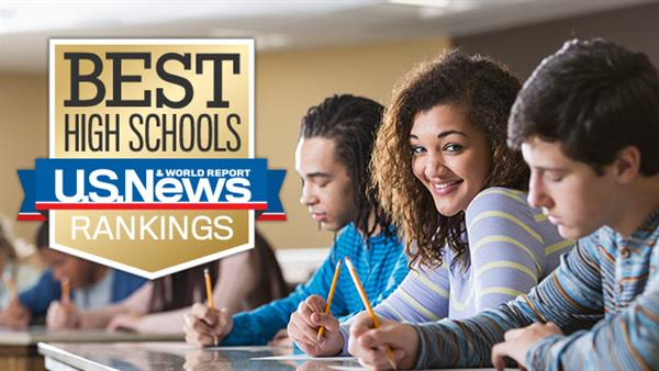 Image displaying US News & World Report High School Ranking Story
