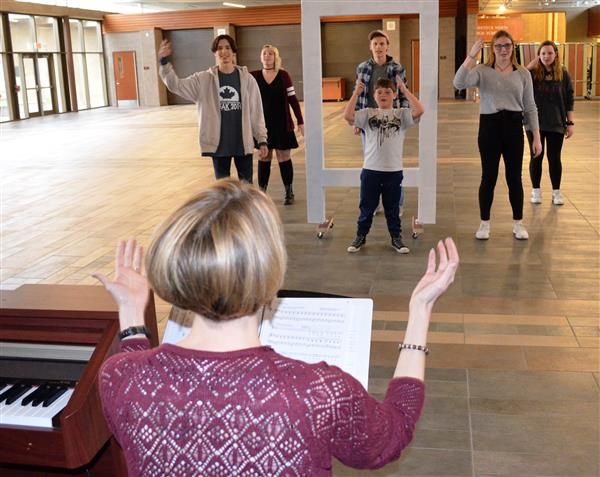 Photo of students at play rehearsal
