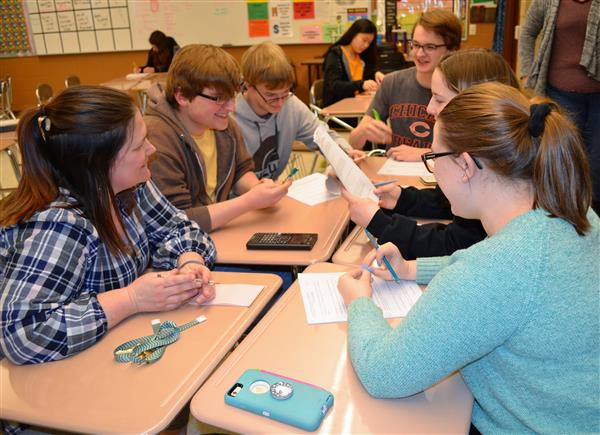 Photo of math team practicing