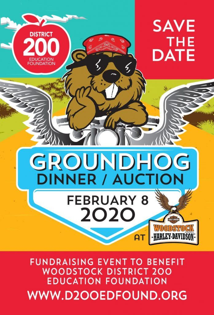 Image of poster advertising Groundhog Day Dinner Event