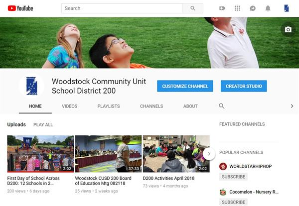 Photo of District YouTube page