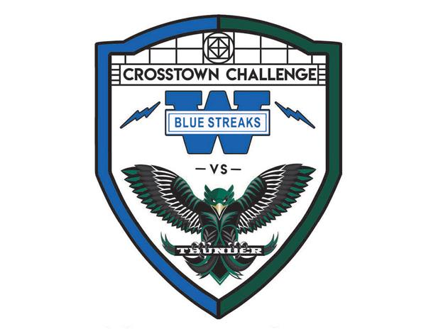 Crosstown Challenge logo image, showing logos from both high schools
