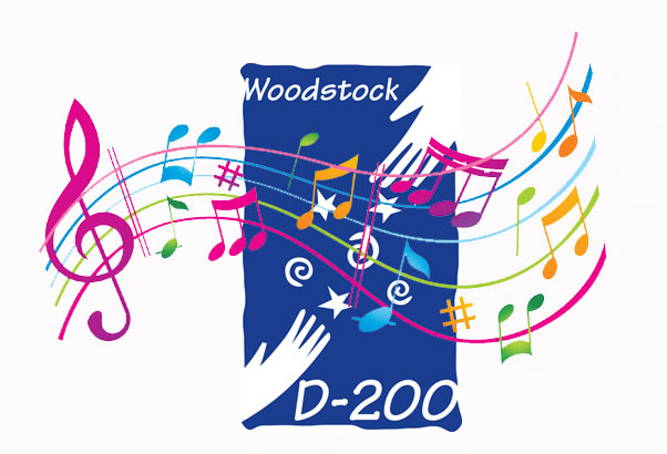 D200 logo with musical notes over it