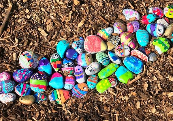 Example of a grant-funded project - rock garden