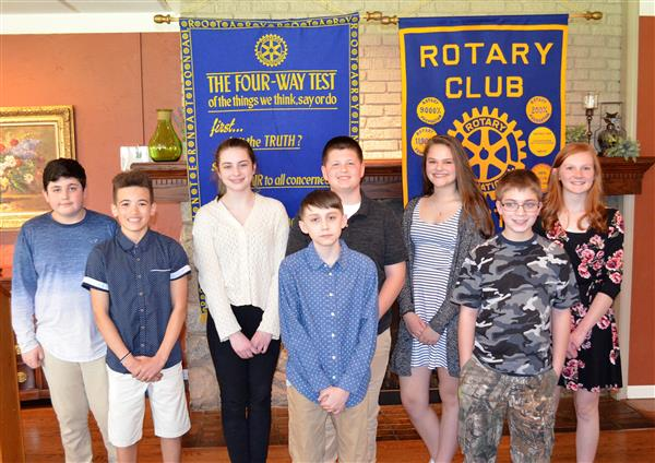 Nine students win Rotary Peace Essay Contest