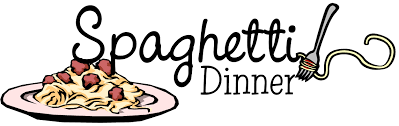 Illustration of spaghetti plate, to advertise spaghetti dinner