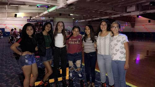 Photo of girls at bowling alley