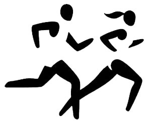 Clipart image of XC runners