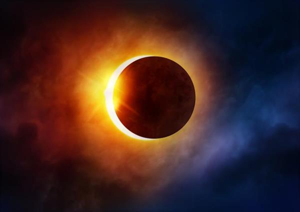 Image of a solar eclipse