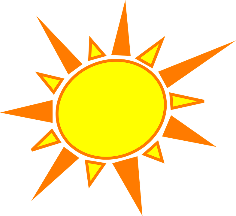clipart image of the sun