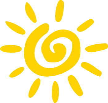 Clipart drawing of the sun
