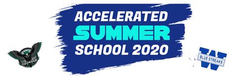 Banner advertising accelerated summer school for incoming freshmen