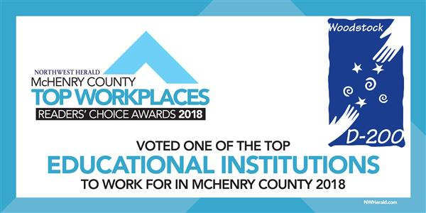 Graphic announcing Top Workplace Award