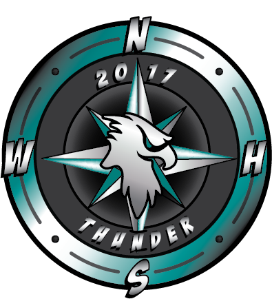 WNHS Thunder Way Compass Logo