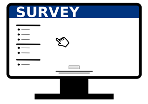 Clipart image of a computer survey