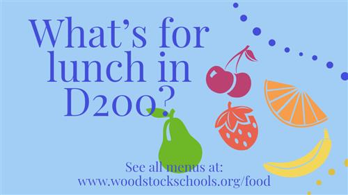 "Banner ""What's for lunch in D200?"""