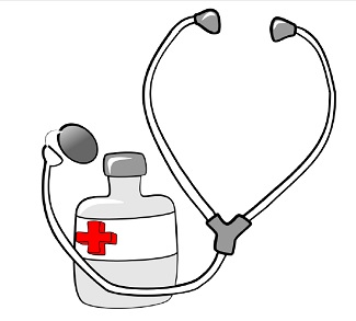 Clipart image of stethoscope and medical chart